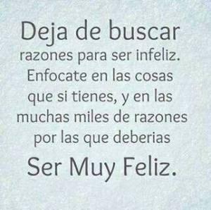 Sé feliz!