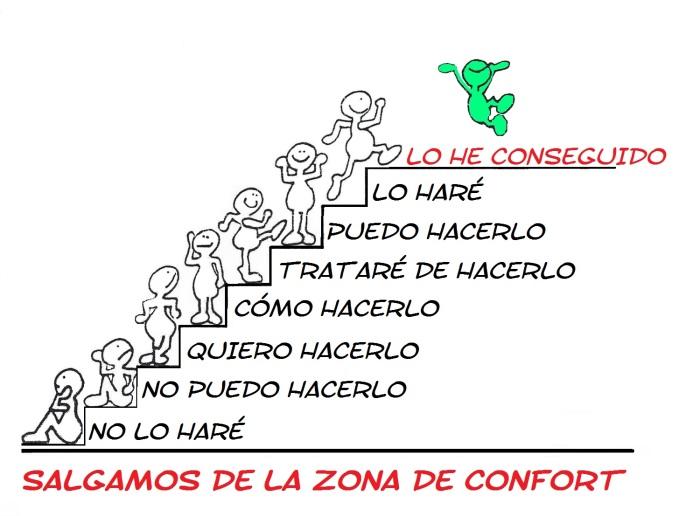 SALIENDO DE LA ZONA DE CONFORT. ESCALERA